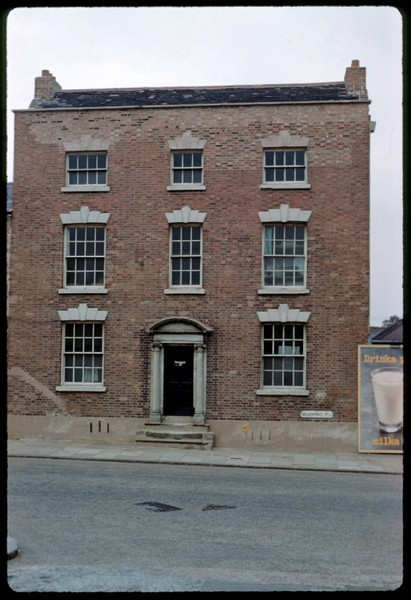 An 18th-century house (now demolished) No178 Bradford Street taken in 1960 by Phyllis Nicklin. See Acknowledgments - Keith Berry.