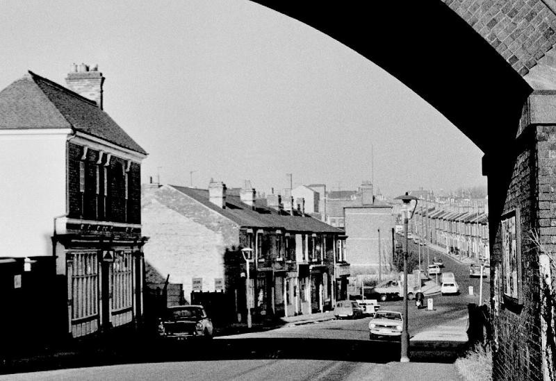 Bacchus Road c1970, reproduced with the kind permission of Keith Berry from his on-line collection of photographs - see Acknowledgements for a link to his website.