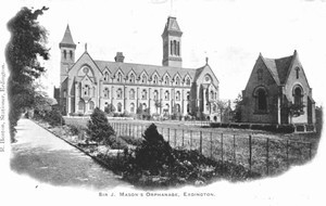Mason's Orphanage. Acknowledgements to Ian Petticrew for the use of this image from his website on the Chartist, Gerald Massey - see acknowledgements.