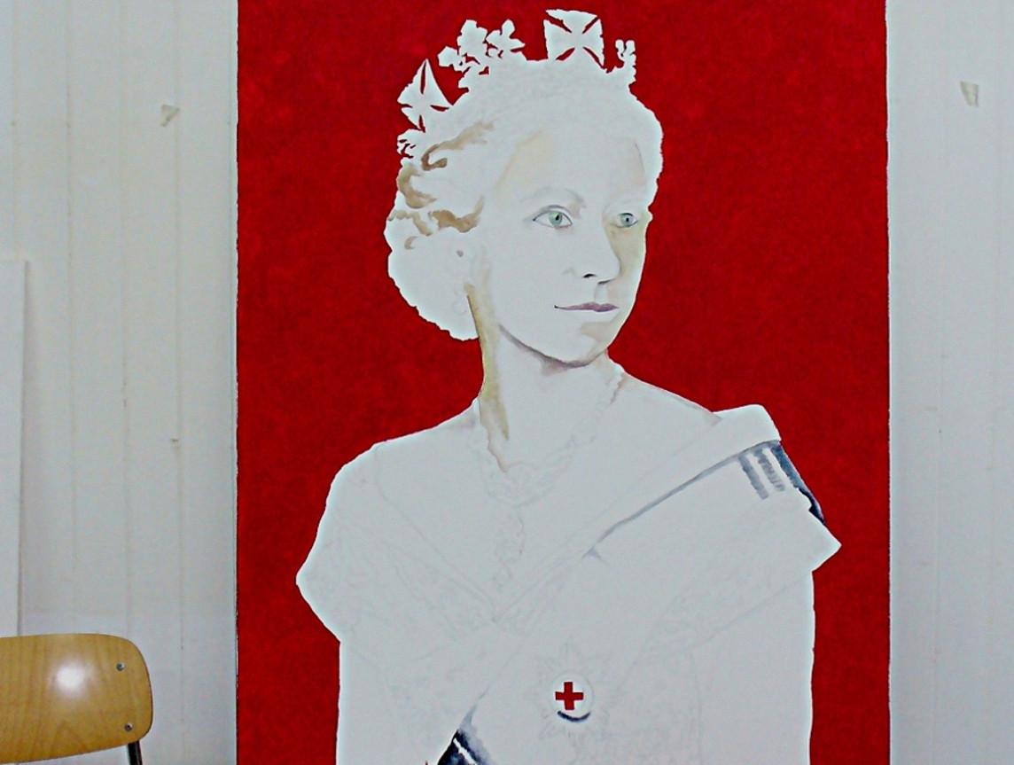 Portrait Of The Queen Elizabeth Ii Good Old Art