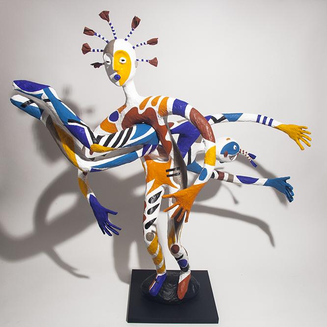 Double Je - 2018 - 85 cm x 88 cm - papier sculpté