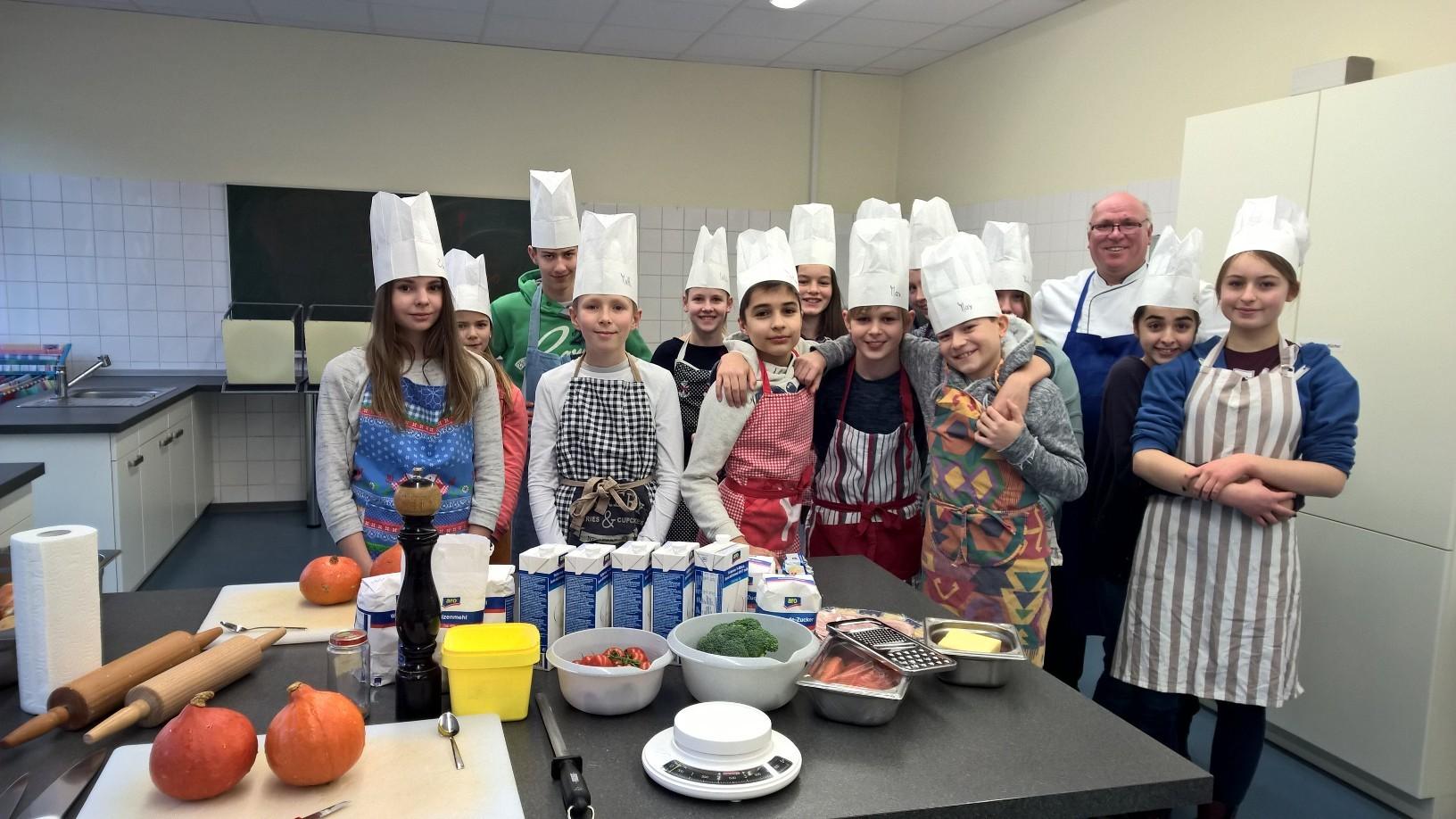 """Kochvergnügen """"La cuisine françaises pour les jeunes"""" am 26.2.2016"""