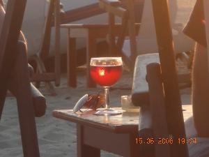 Vin grec soleil couchant