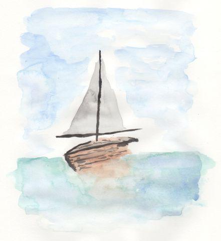 Aquarell Schiff