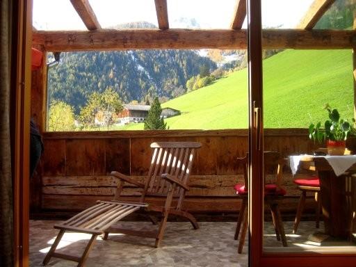 Ferien auf dem Balkon im Appartement Kaser - Ferienwohnung im Ahrntal