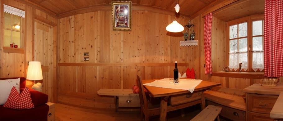 Soggiorno tipo tirolese negli appartamenti Kaser a Rio Bianco - Valli di Tures e Aurina