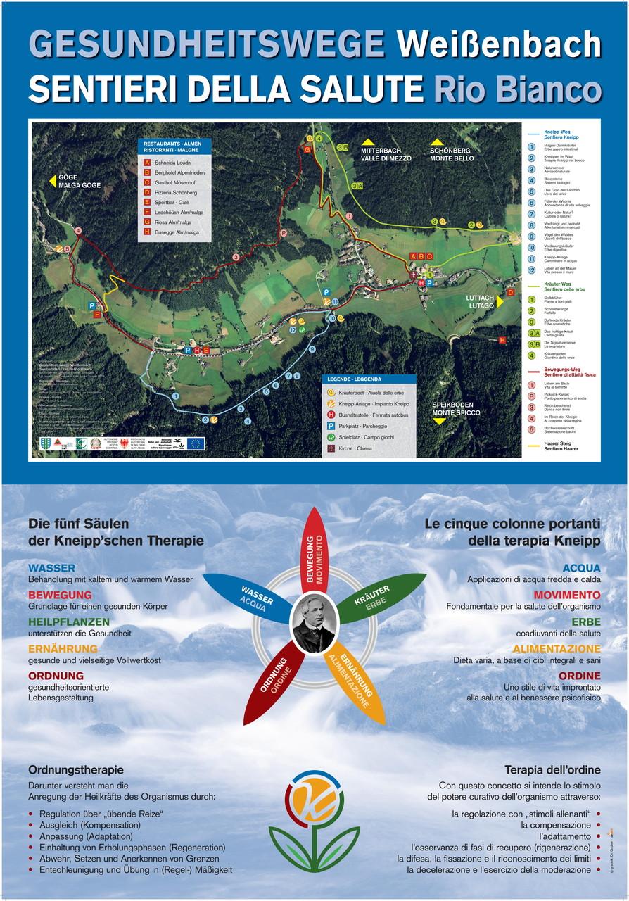 Wandern auf den Gesundheitswegen Weißenbach im Ahrntal - die fünf Säulen der Kneipp'schen Therapie