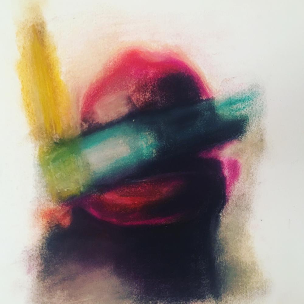 Color 2, Pastel on Paper, 50 x 35 cm, 2017