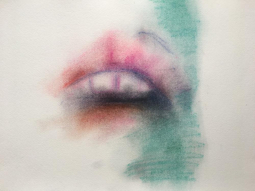 Color 1, Pastel on Paper, 50 x 35 cm, 2017