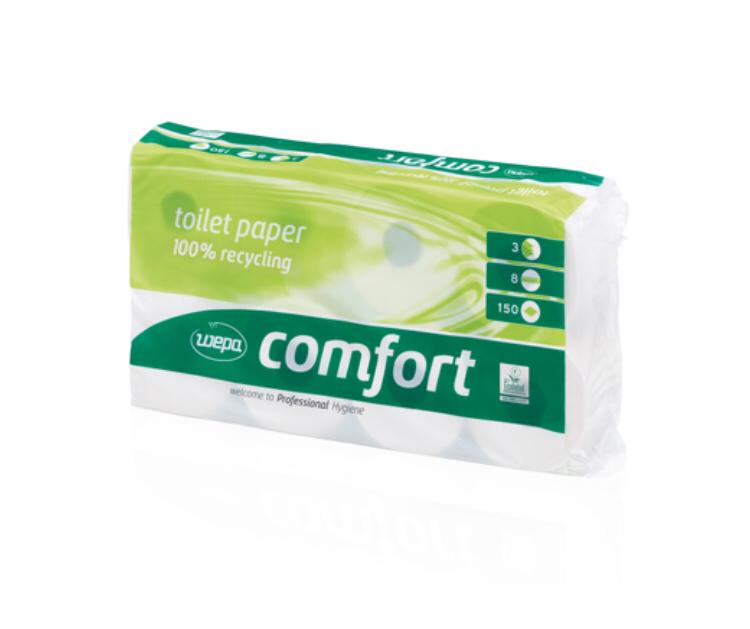 Toilettenpapier 2-Lg, 250 Blatt, Recycling