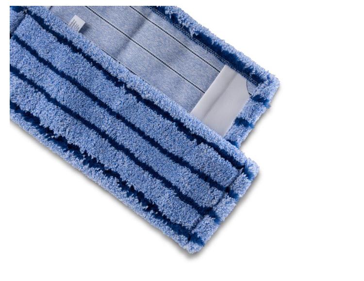 Milrofasermopp blau meliert mit Borsten