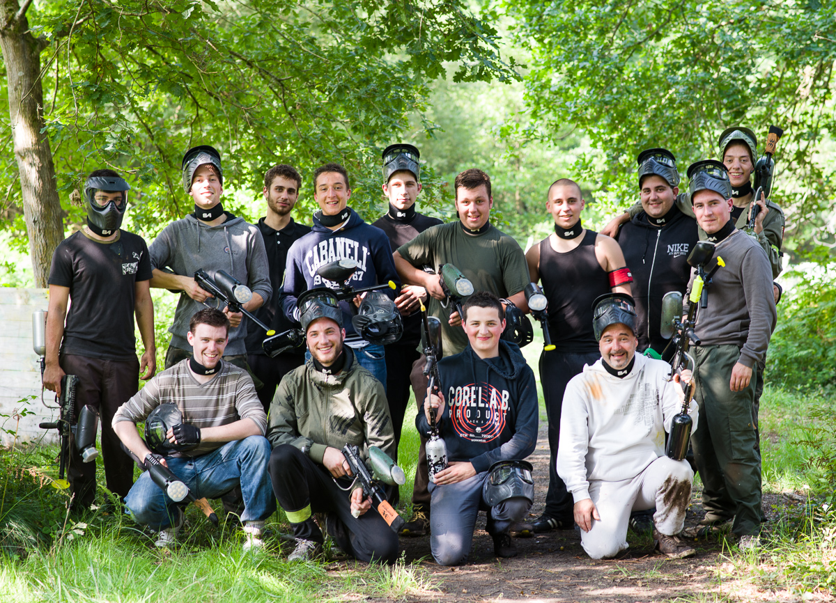 Paintball landes enterrement de vie de garçon
