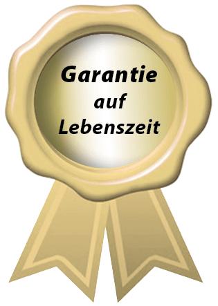 """Siegel """"Garantie auf Lebenszeit"""""""