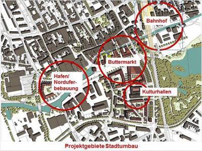 Stadtplan Sanierungsgebiet Krückau/Vormstegen