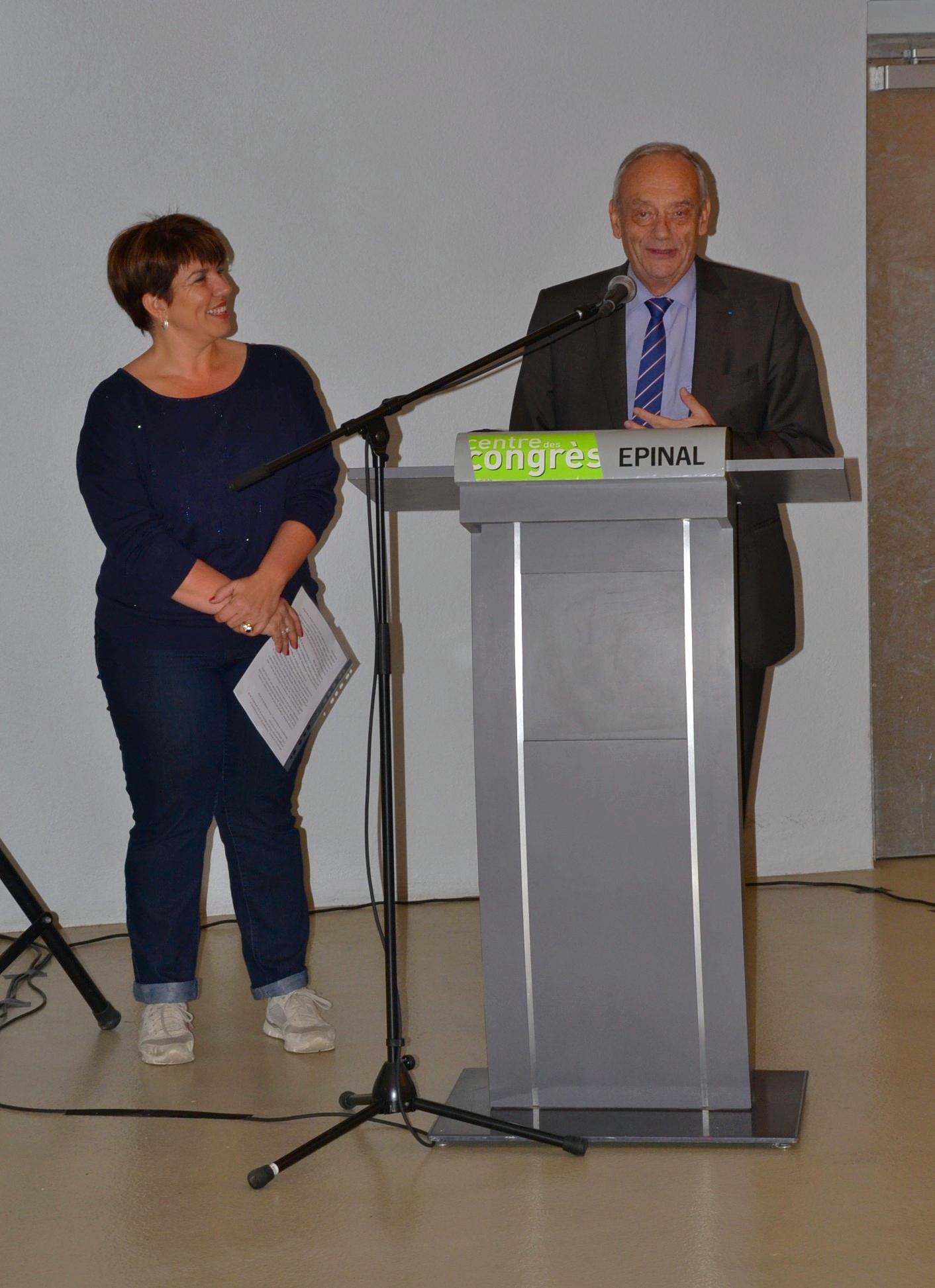 Accueil Centre des Congrès - Discours de la Présidente du CHE -Christine MASSARD et du Président de la CAE - Michel HEINRICH