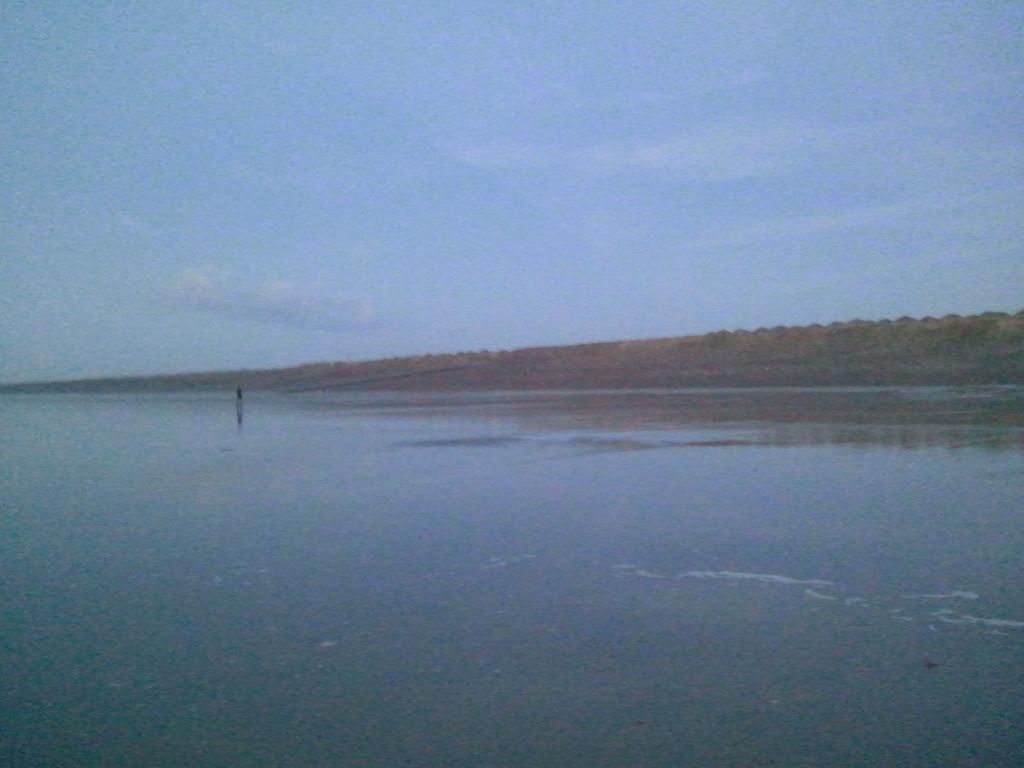 L'Estran sableux (plage Nord à marée basse)