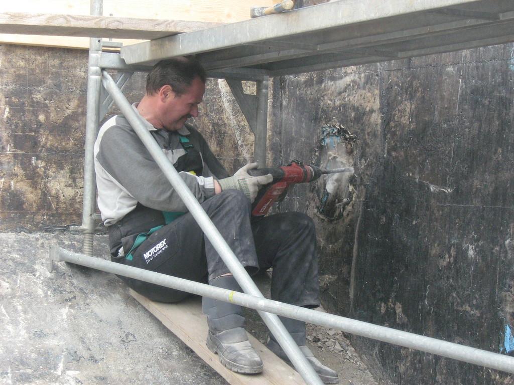 Die Reinwasserleitungen mussten erneuert werden