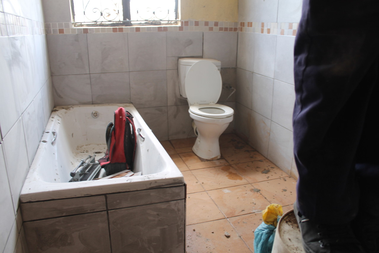 fertiges Badezimmer