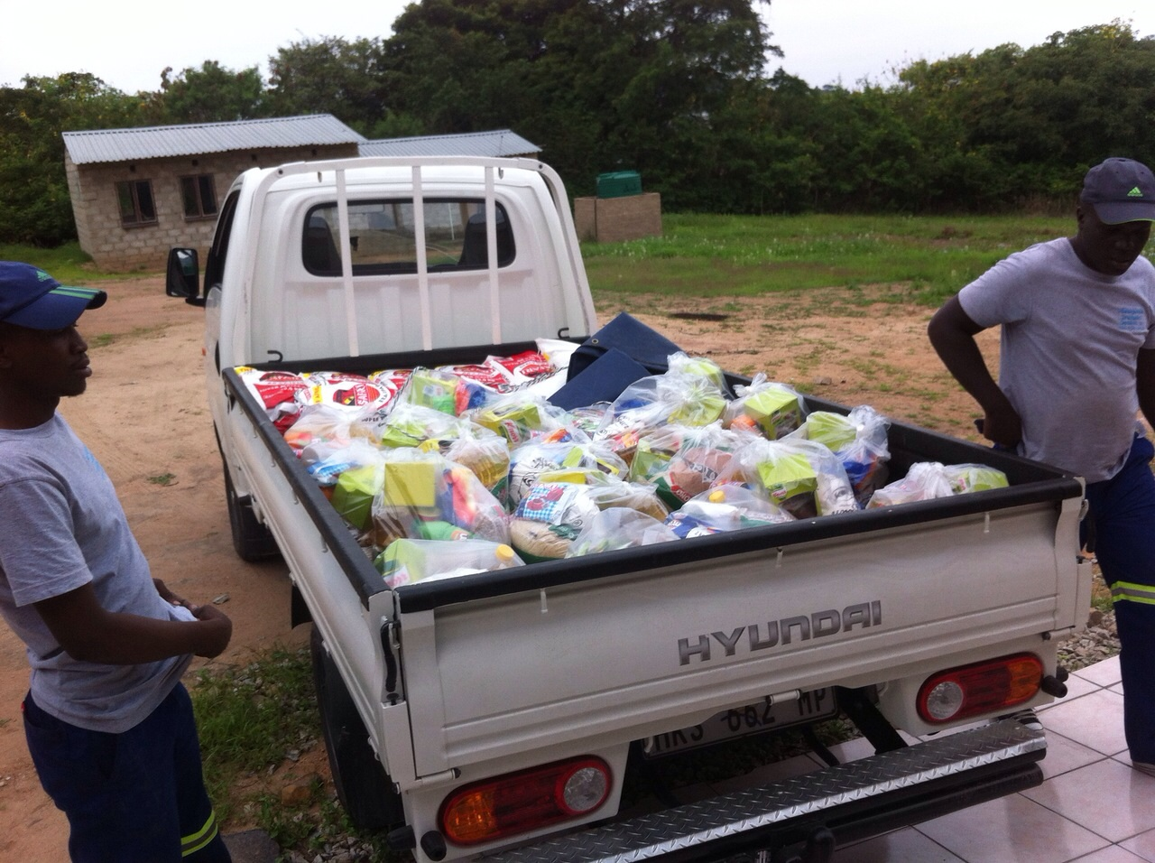 Transport der Food Parcels