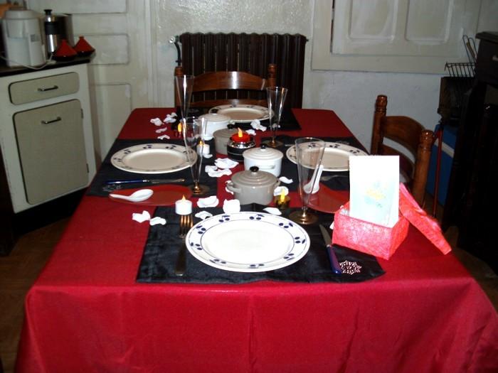 Charme et romantisme à table