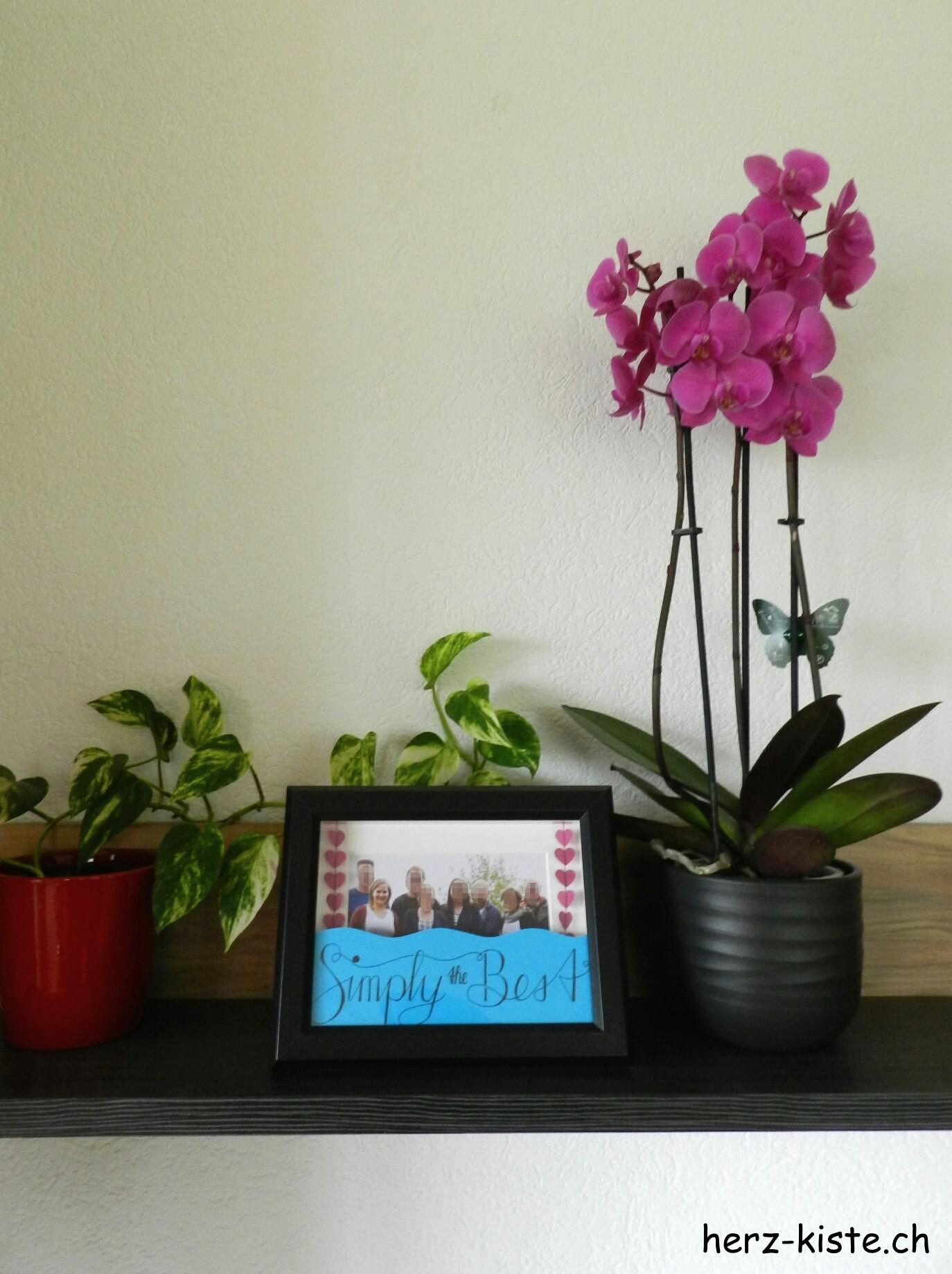 Geschenk zum Vatertag: mehrdimensionaler Bilderrahmen inklusive Handlettering