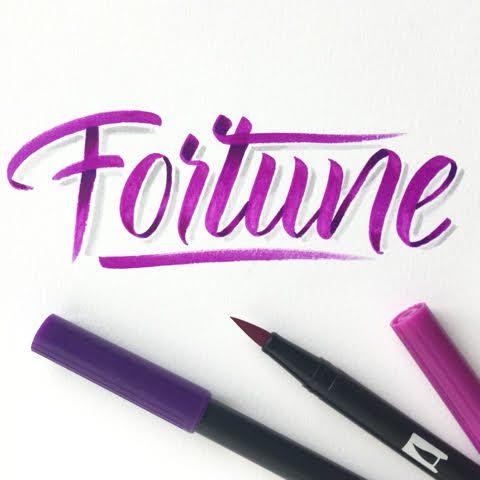 Letter Lovers buntegalerie: Handlettering Fortune