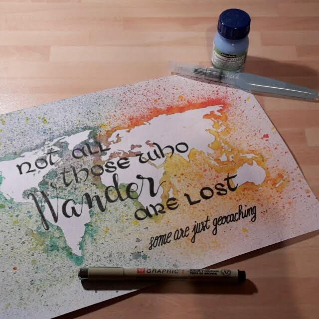 Letter Lovers _conny_k_: Handlettering not all those who wander are lost