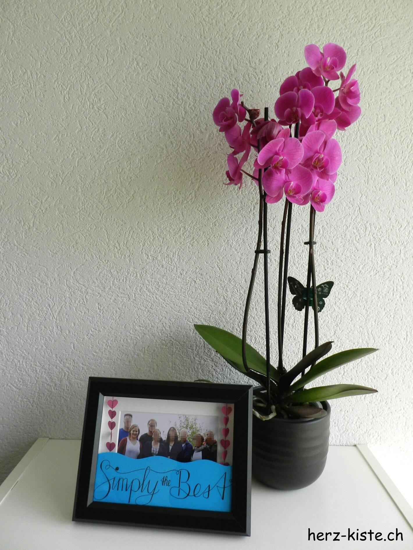 Geschenk zum Vatertag: Bilderrahmen mit Handlettering