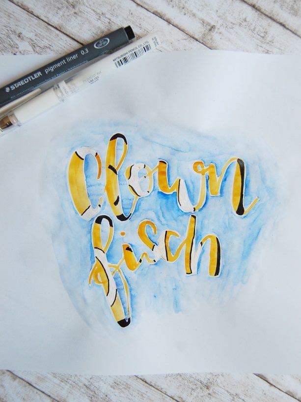 Clownfisch Lettering von vanessa_sternenwind bei den Letter Lovers