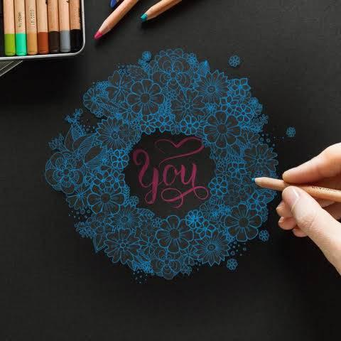 Letter Lovers buntegalerie: Handlettering you mit Blumenkranz