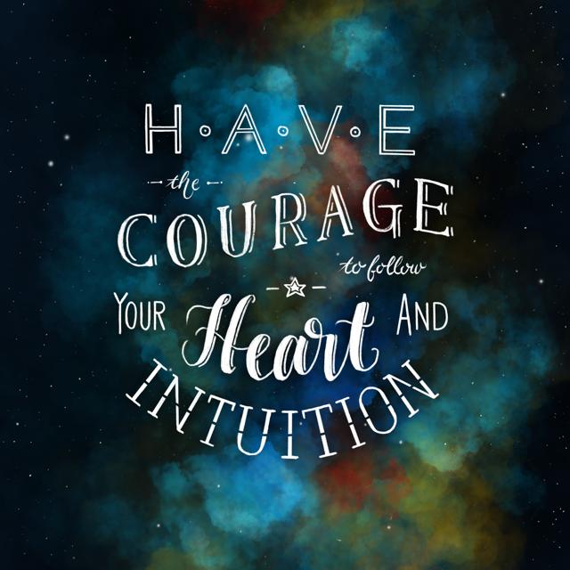 Lettering have the courage - Vorlage um einen eigenen Grid zu erstellen