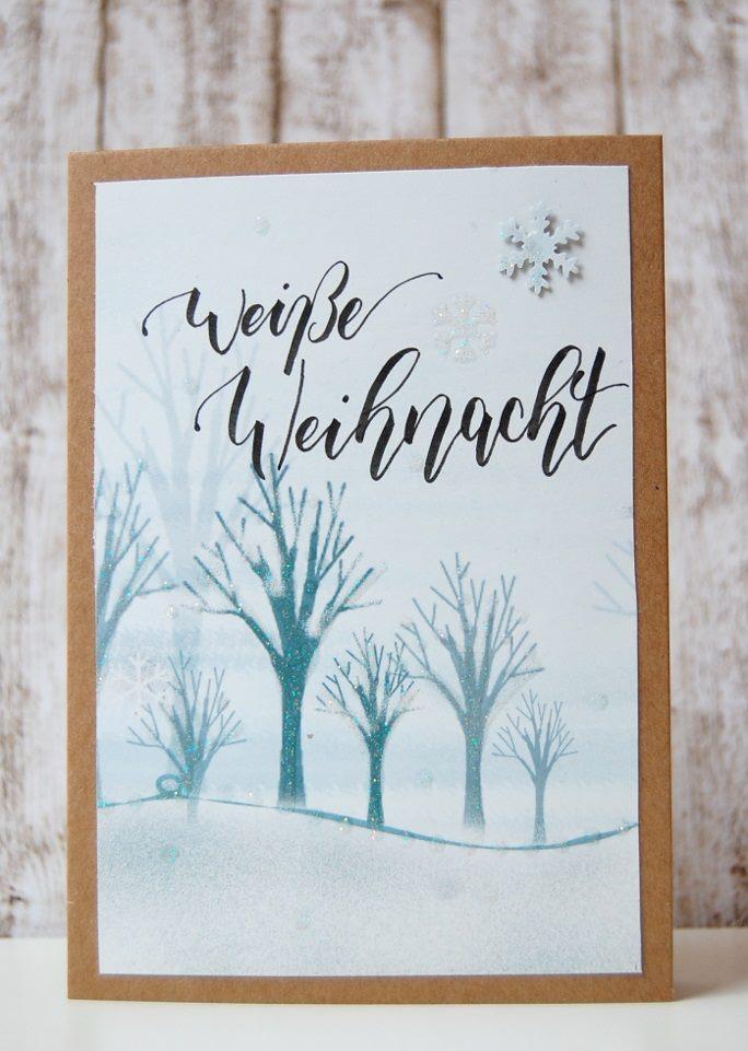weisse Weihnacht - Handlettering Karte von vanessa_sternenwind bei den Letter Lovers