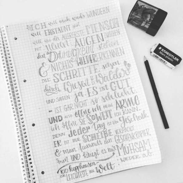 Letter Lovers unakritzolina: Handlettering Songtext