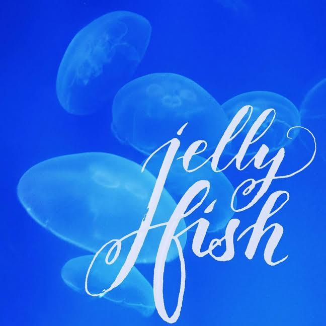 Letter Lovers derherrlehrer: Handlettering jelly fish