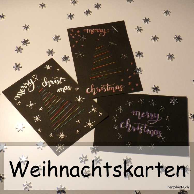 weihnachtskarten sticken herz kiste lettering diy. Black Bedroom Furniture Sets. Home Design Ideas