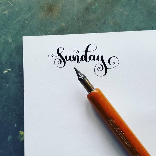 Letter Lovers halfapx - Handlettering Sunday mit Feder