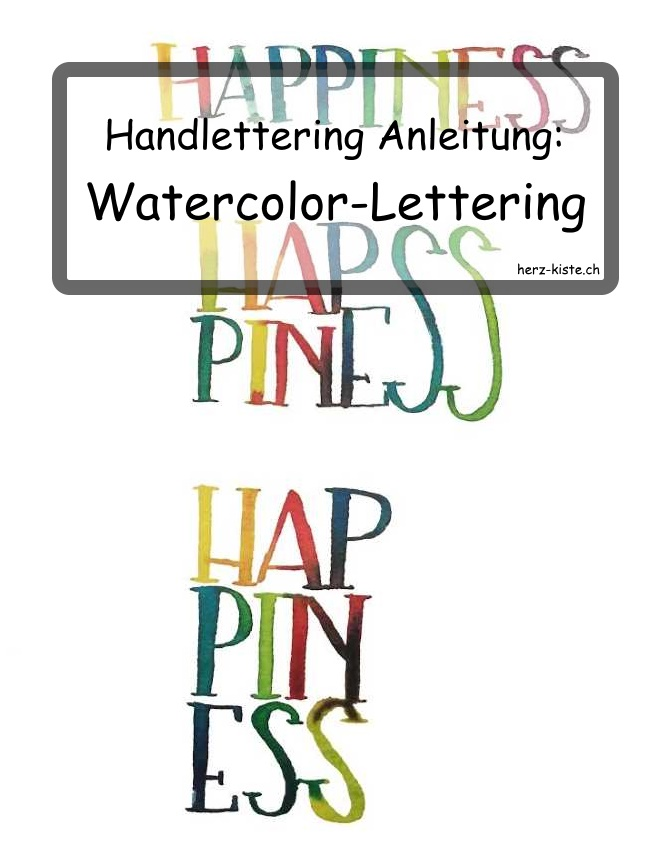 Handlettering Anleitung: Watercolor Lettering mit wunderschönen Farbübergängen