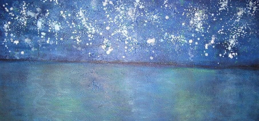 Notte stellata, 2014 (Moderne abstrakte Kunst)