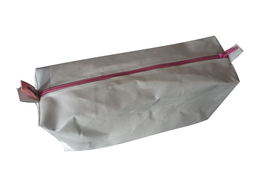 bürolamellen-tascherl rosa reißverschluss (20x10x8)
