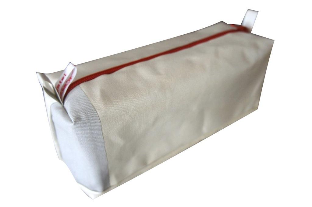 bürolamellen-tascherl roter reißverschluss (20x10x8)