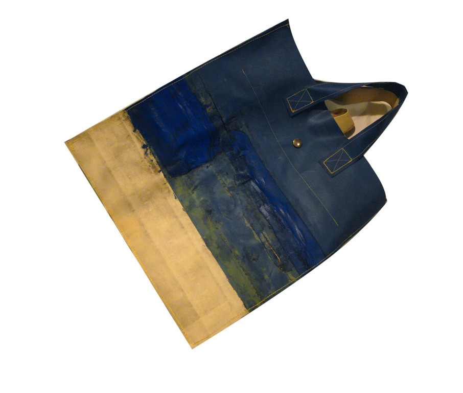 einkaufstasche mit innentasche+reißverschluss aus lkw-plane