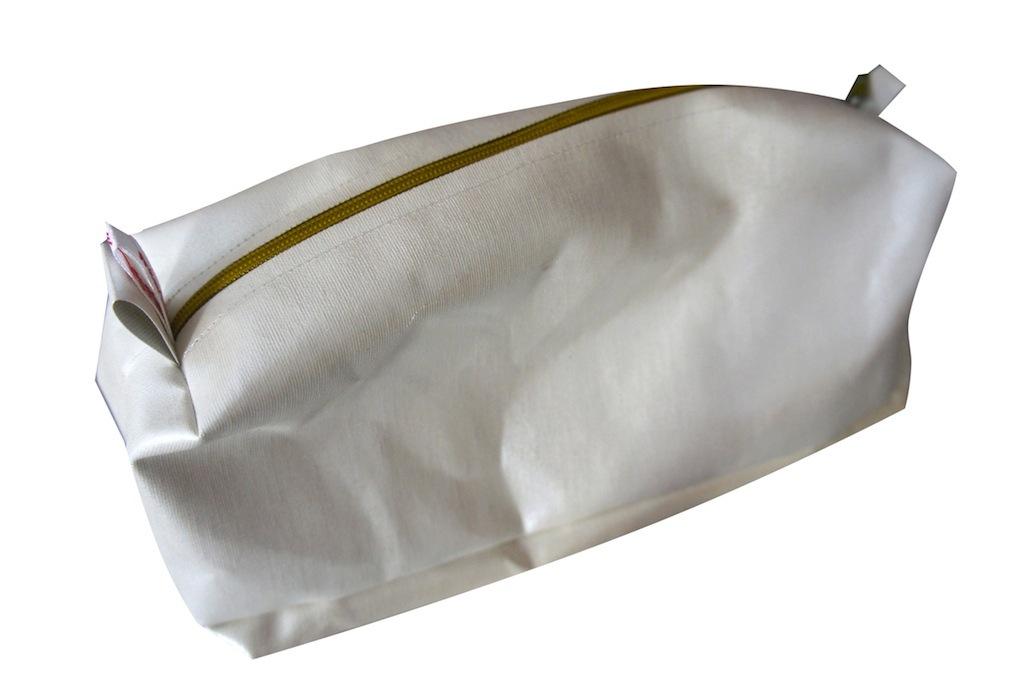 bürolamellen-tascherl ocker reißverschluss (20x10x8)