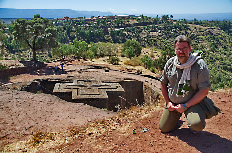 Felsenkirchen in Lalibela in Äthiopien