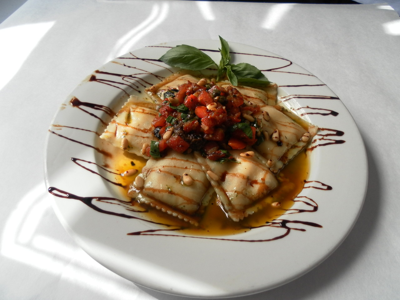 Goat Cheese Ravioli with Organic Herbs