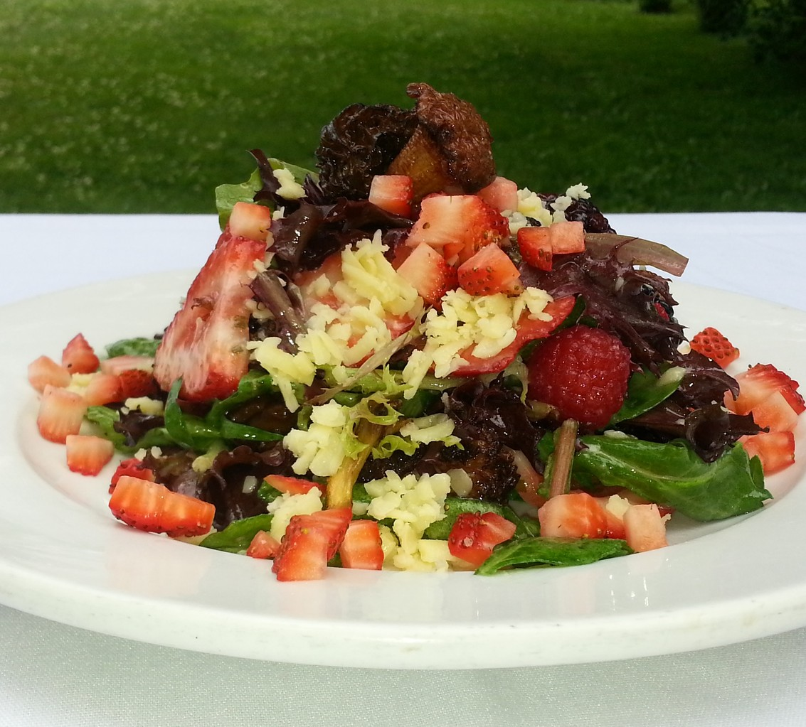 Salad of Wild Mushrooms and Summer Berries