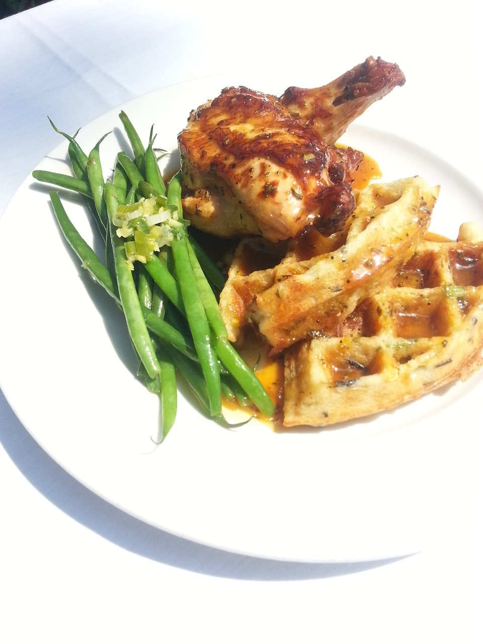 Amish Chicken with Wild Rice Waffle
