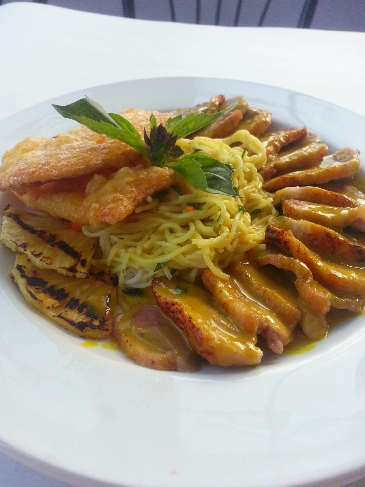Thai Red Curry Grilled Duck