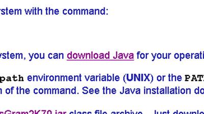 ggfs. benötigte Java-Version installieren