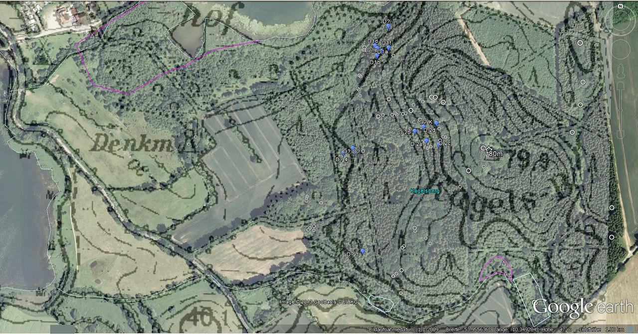 Dachsburg Kagelsberg / Topographie