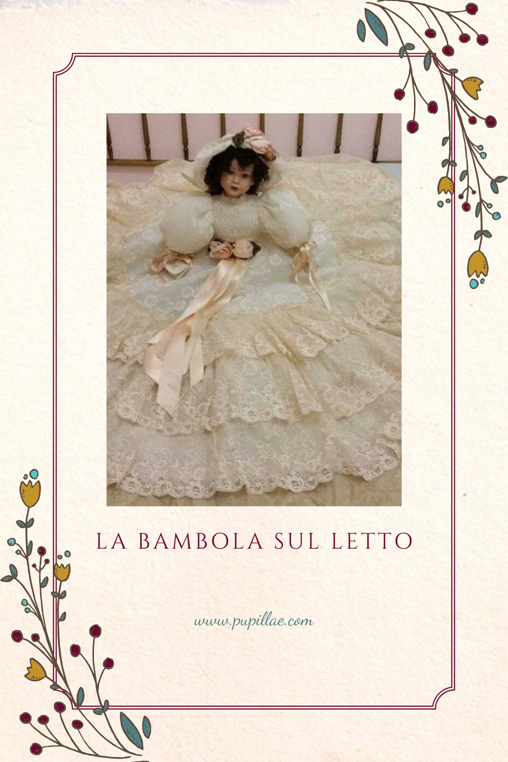 The doll on the bed